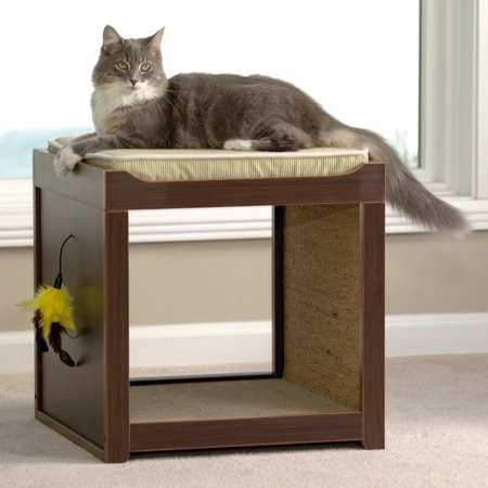 Sauder Woodworking 18.5 in. Modern Interactive Cat Cube