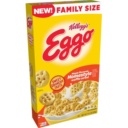 Eggo Homestyle Breakfast Cereal Family Size 14.1oz - Kellogg's