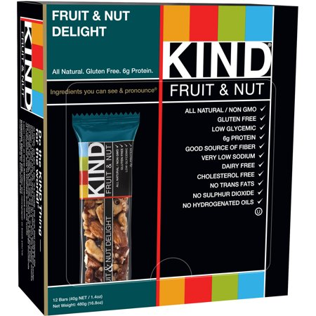 KIND Fruit & Nut Bars, Fruit & Nut Delight, 1.4 Ounces, 12 Count