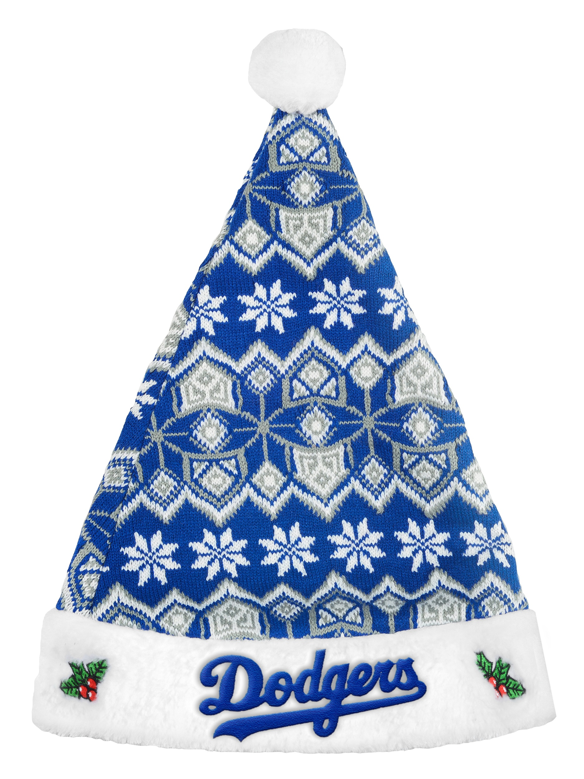 Los Angeles Dodgers Knit Santa Hat 2015 by Forever Collectibles