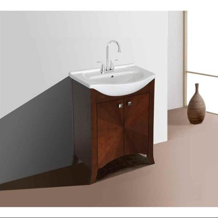 Single Sink Vanity In Royal Walnut