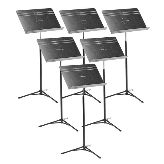 Manhasset #52 Voyager Collapsible Music Stand w/ Retractable Legs, 6-Pack