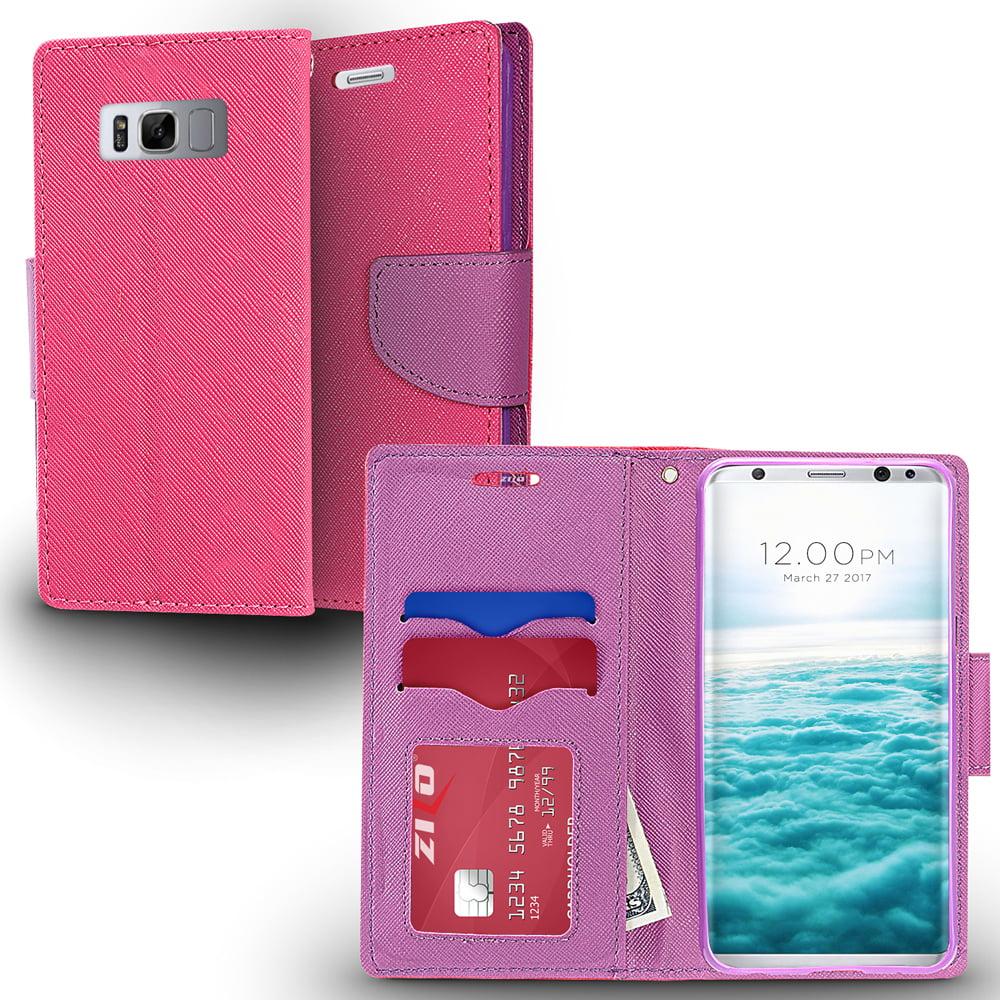 Samsung Galaxy S8 / S8 Plus Case, Zizo Wallet Case - Flap Pouch w/ Card Holder