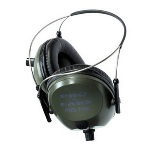 Pro Ears Electronic Hearing Protection Pro Tac 300, NRR 26, Green Behind the Head