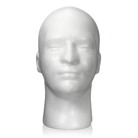 Male White Styrofoam Foam Mannequin Manikin Model Glasses Wig Hat Display Head](Styrofoam Skull Head)