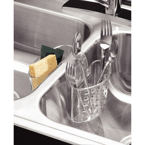InterDesign Kitchen Sink Protector Flatware Organizer and Sponge ...