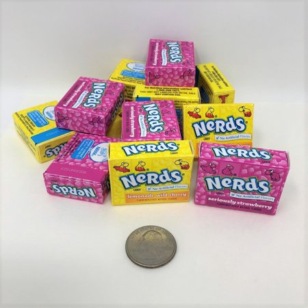 Wonka Nerds mini boxes 1 pound lemonade wild cherry and strawberry flavors
