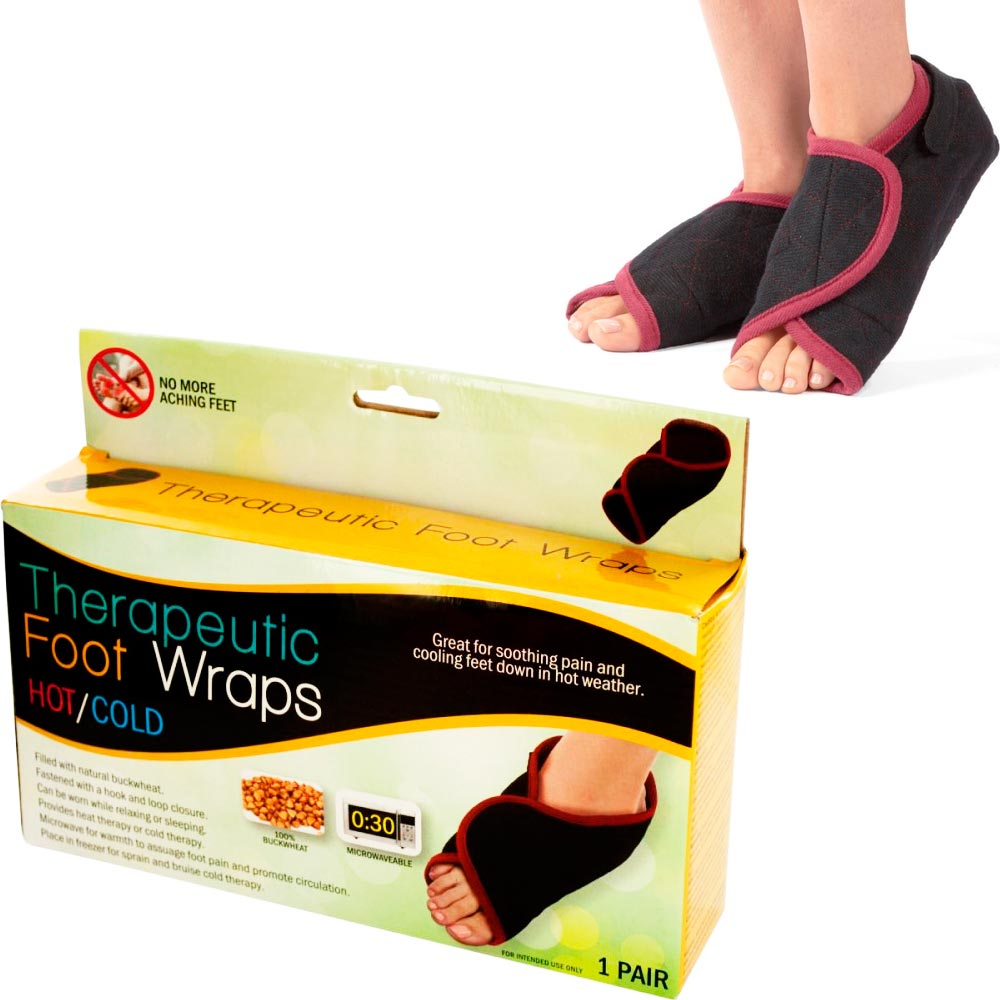 Hot Cold Foot Wraps Therapeutic Therapy Arthritis Stress Soothing Relax Unisex