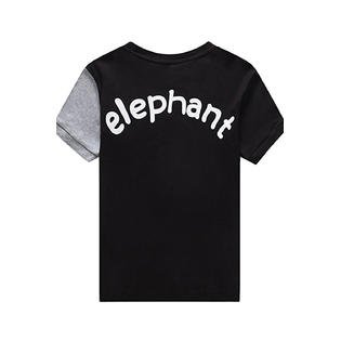 Kids Boys Elephant Printed SHort Sleeve Top And Pant Suit](Elephant Suit)