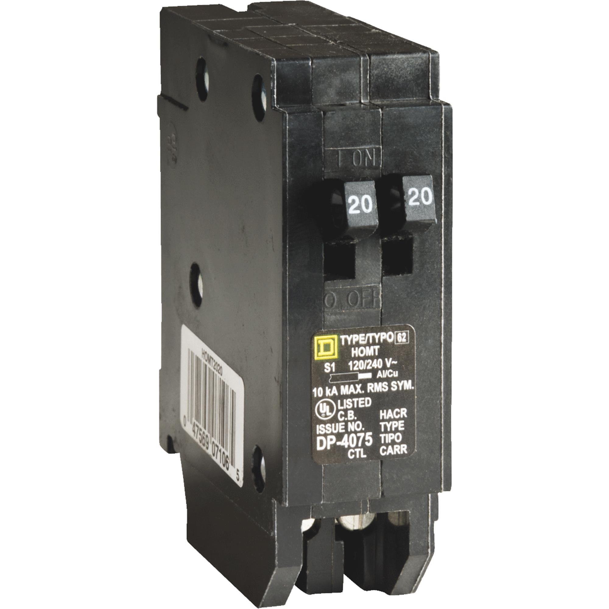 Square D Homeline Single-Pole Tandem Circuit Breaker by Square D
