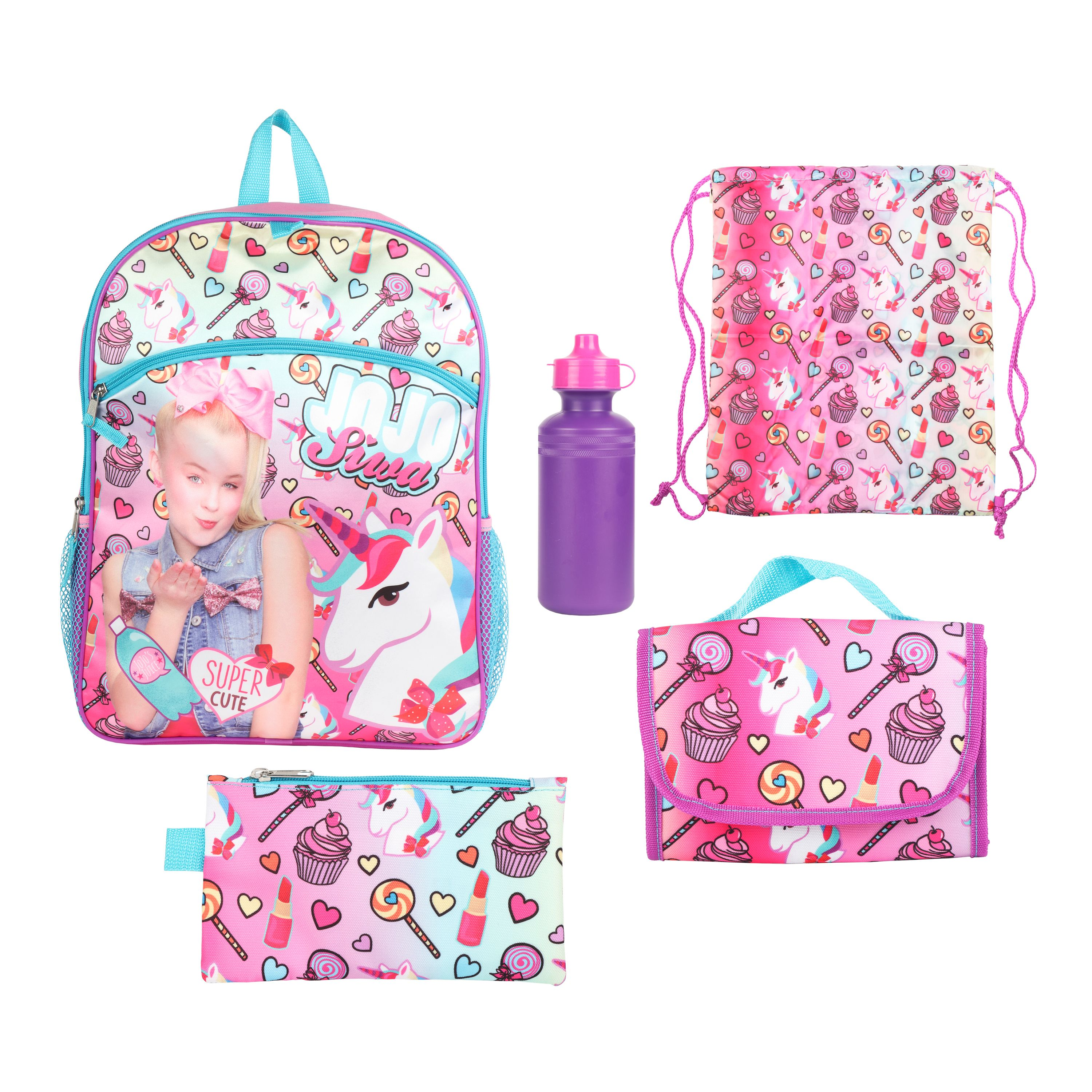 0895abf7e0ae Jojo Siwa - Jojo Siwa 5 PC Backpack Value Set - Walmart.com