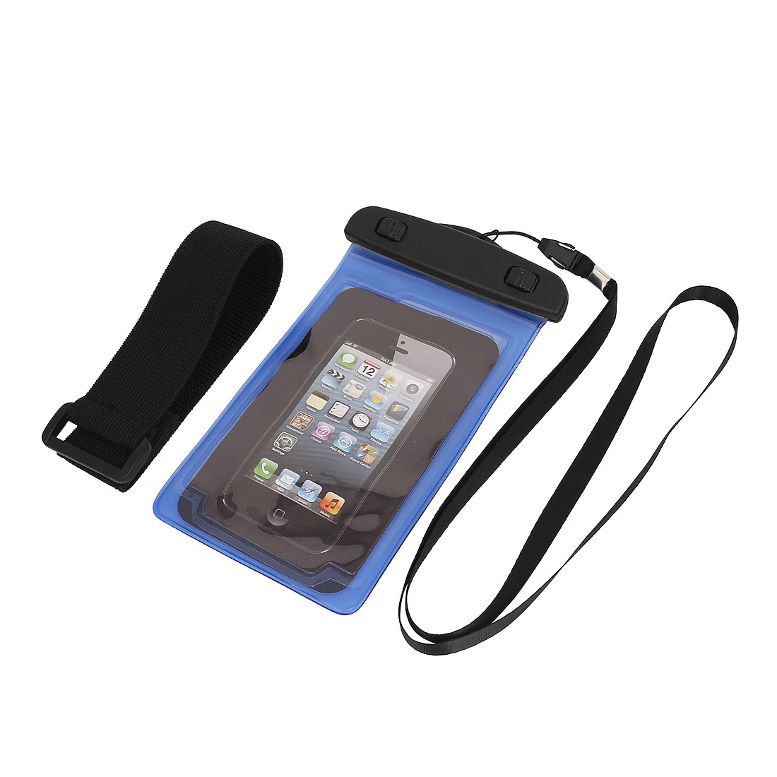 Unique Bargains Underwater Waterproof Case Dry Bag Cover Pouch Holder Blue for 4.7  Cell Phone
