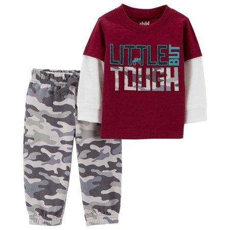 Long Sleeve Layered T-Shirt & Jogger Pants, 2-Piece Outfit Set (Toddler Boys)
