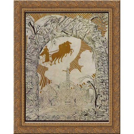 Front Page Of Apollo Magazine 20X20 Gold Ornate Wood Framed Canvas Art By Narbut  Heorhiy