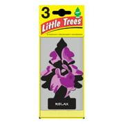 CAR FRESHNER CORP Little Trees Car Air Freshener, Relax Scent, 3-Pk.