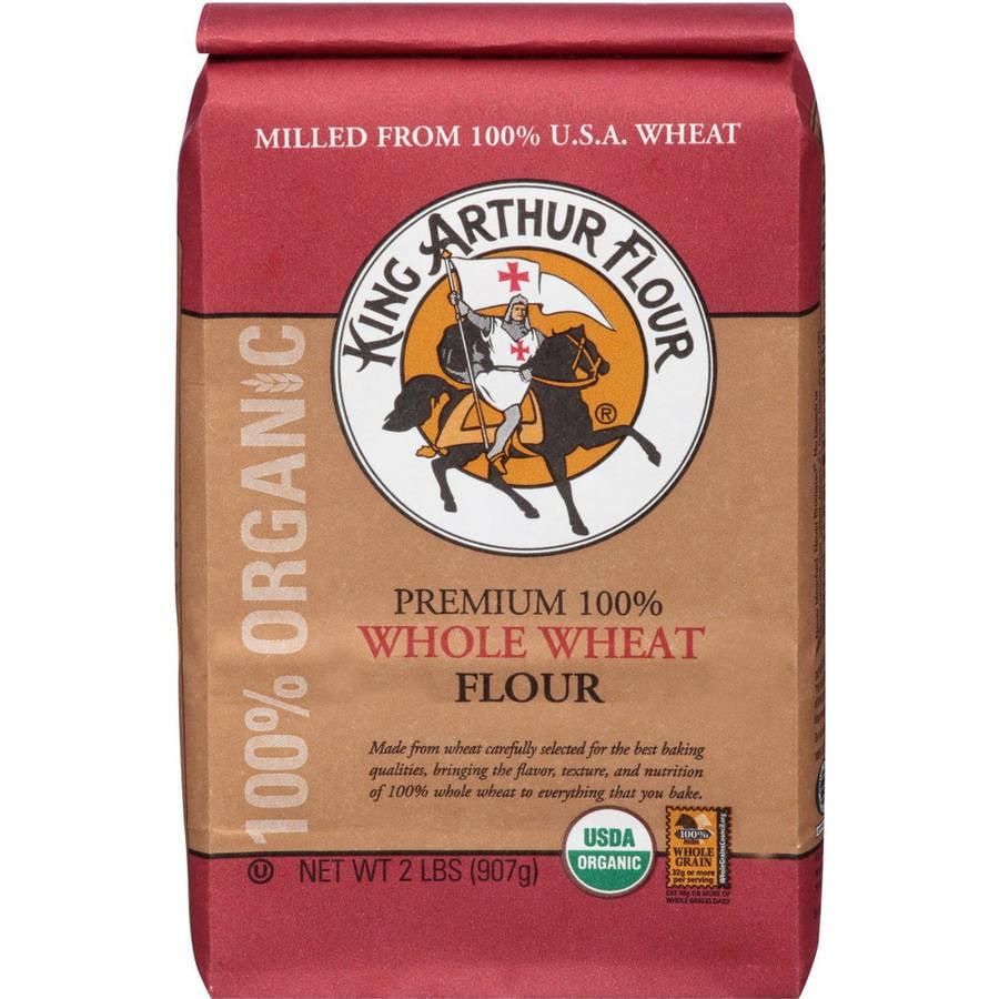 King Arthur Flour Premium 100% Whole Wheat Flour, 2 lbs, (Pack of 12)