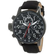 Invicta 1517 Force Lefty Black Dial Quartz Chrono Black Rifle Watch