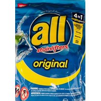 all Mighty Pacs Laundry Detergent, 4 in 1 Stainlifter, Pouch, 25 Count