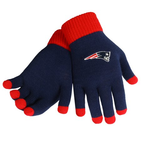 5ee0161a3d8 New England Patriots Official NFL Glove Solid Outdoor Winter Stretch Knit  by Forever Collectibles 240204 - Walmart.com