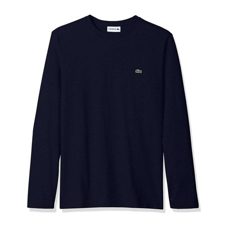 Lacoste Men's Long Sleeve 100% Pima Cotton Crew Neck Regular Fit T-Shirt