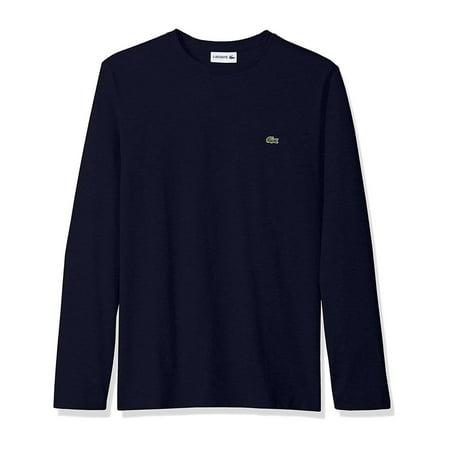 Lacoste Men Long Sleeve Jersey Pima Crewneck T-Shirt