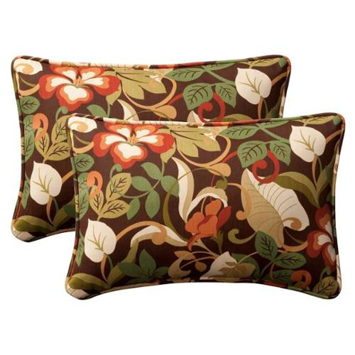Pillow Perfect Outdoor/ Indoor Coventry Brown Oversized Rectangle Throw Pillow (Set of 2)