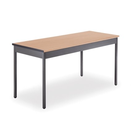 OFM Adapt Series Rectangle Student Table - 23-31? Height Adjustable Desk, Gray Nebula (RECT-LL)