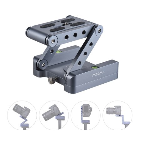 Z Flex Tilt Tripod Head Aluminum Alloy Folding Z Tilt Head 360° Rotary Quick Release Plate Stand Mount Spirit Level For DSLR Camera Canon Nikon Sony Pentax
