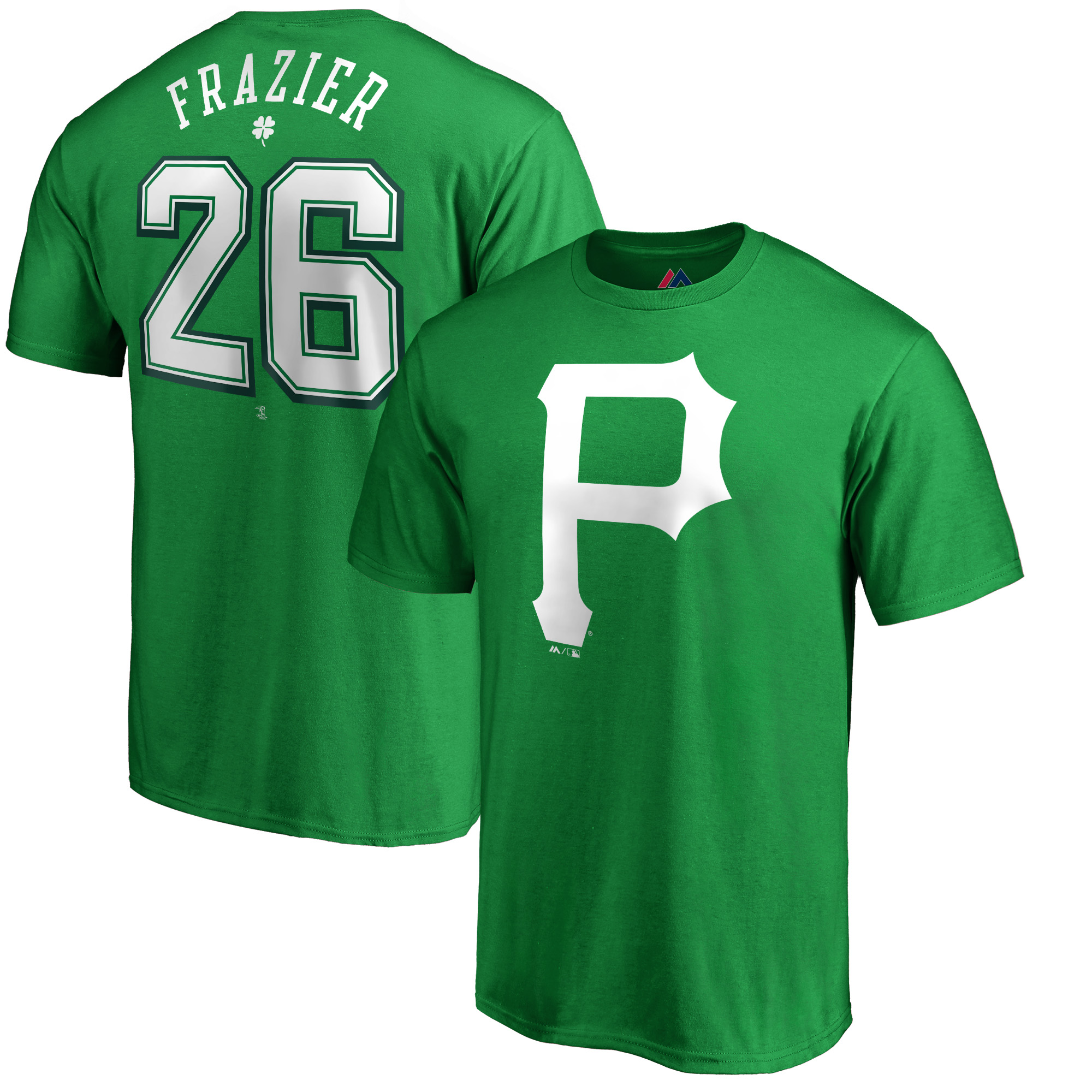 Adam Frazier Pittsburgh Pirates Majestic St. Patrick's Day Name & Number T-Shirt - Kelly Green