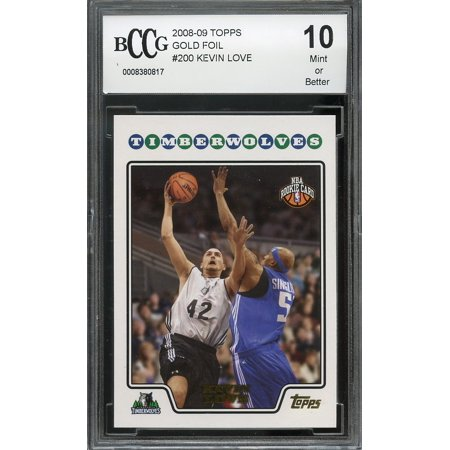- 2008-09 topps gold foil #200 KEVIN LOVE timberwolves rookie card BGS BCCG 10