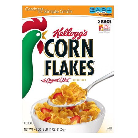 Product of Kellogg's Corn Flakes, 43 oz. [Biz