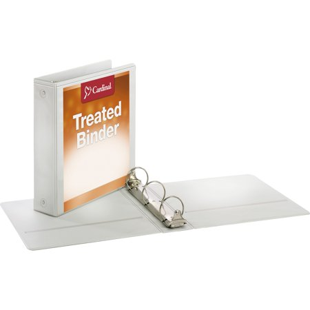 Cardinal Treated Binder ClearVue Locking Round Ring Binder, 2