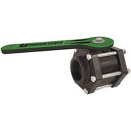 Green Leaf 0038000 6-Bolt Full Port Ball Valve, 3 in., 100 PSI - Polypropylene - image 1 de 1