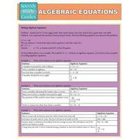 Algebraic Equations (Speedy Study Guides : Academic)