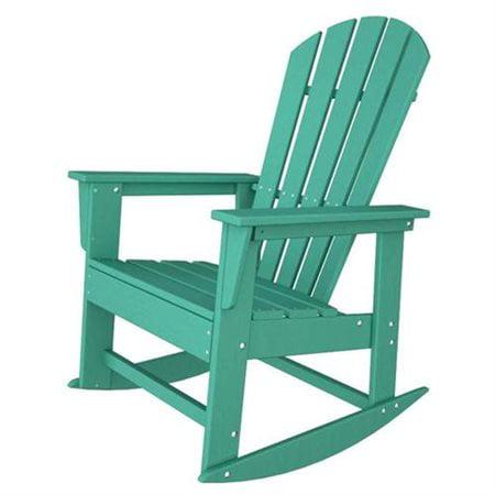Poly Wood SBR16AR South Beach Rocker - Aruba Adirondack Rocking Chair