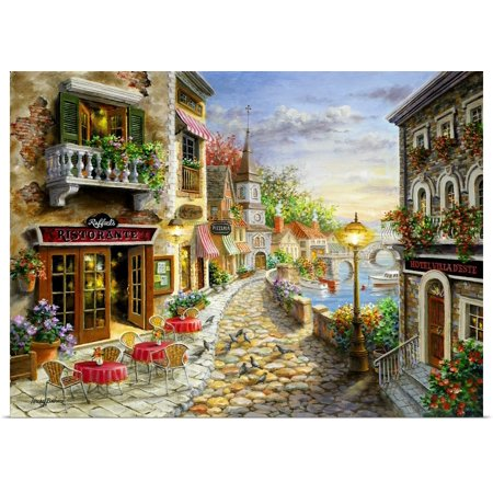 Great BIG Canvas | Rolled Nicky Boehme Poster Print entitled Invitation To Dine