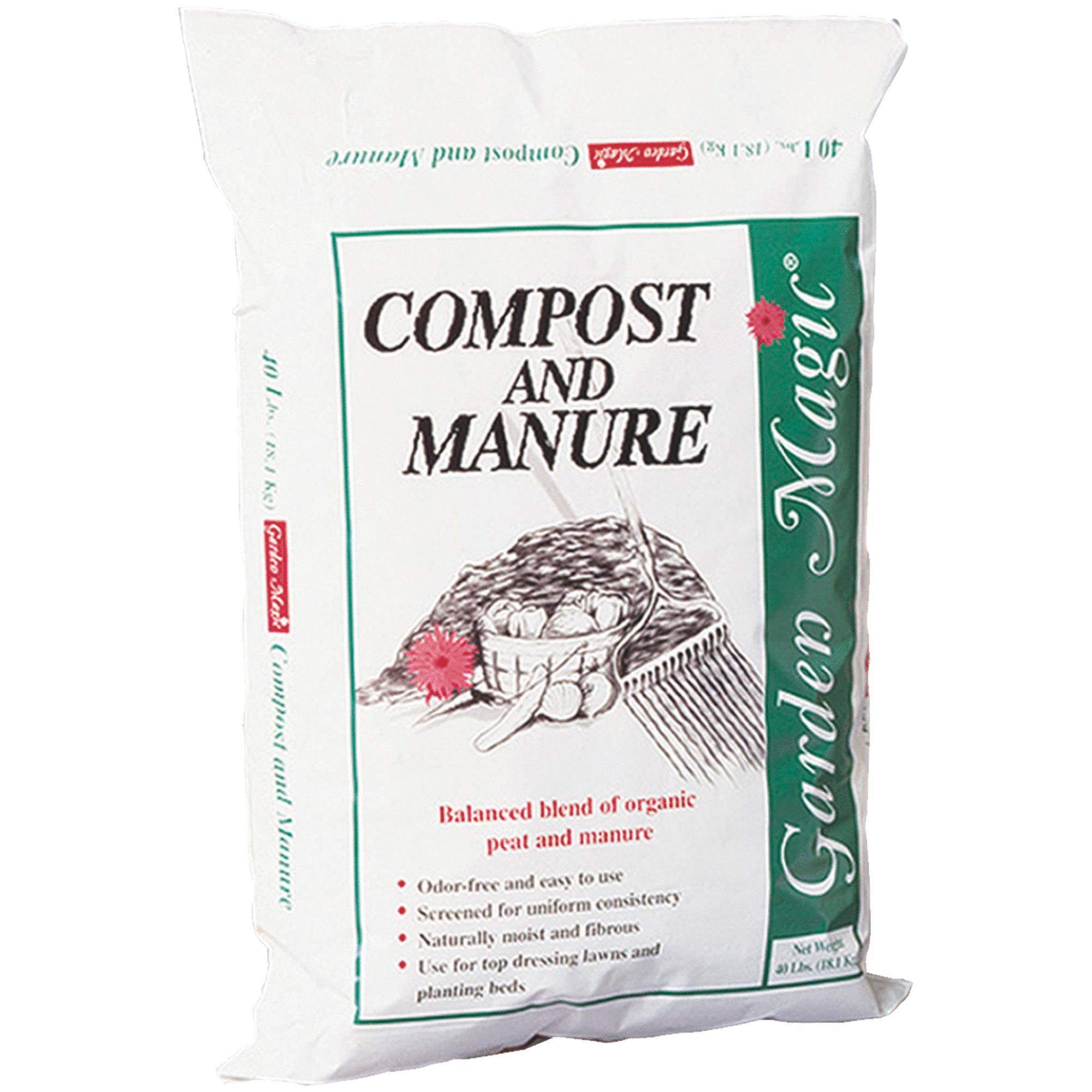 Michigan Peat Garden Magic Compost & Manure, 40lb by Michigan Peat Company