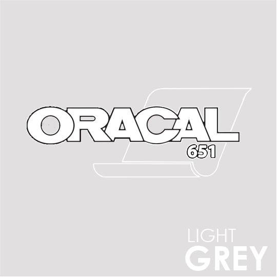 ORACAL 651 Vinyl Roll of Glossy Light Grey - Includes Free Multi-Purpose Squeegee - Choose Your Size