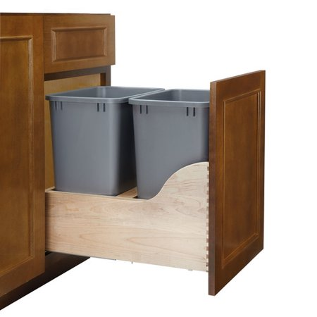 rev a shelf double pull out trash can. Black Bedroom Furniture Sets. Home Design Ideas