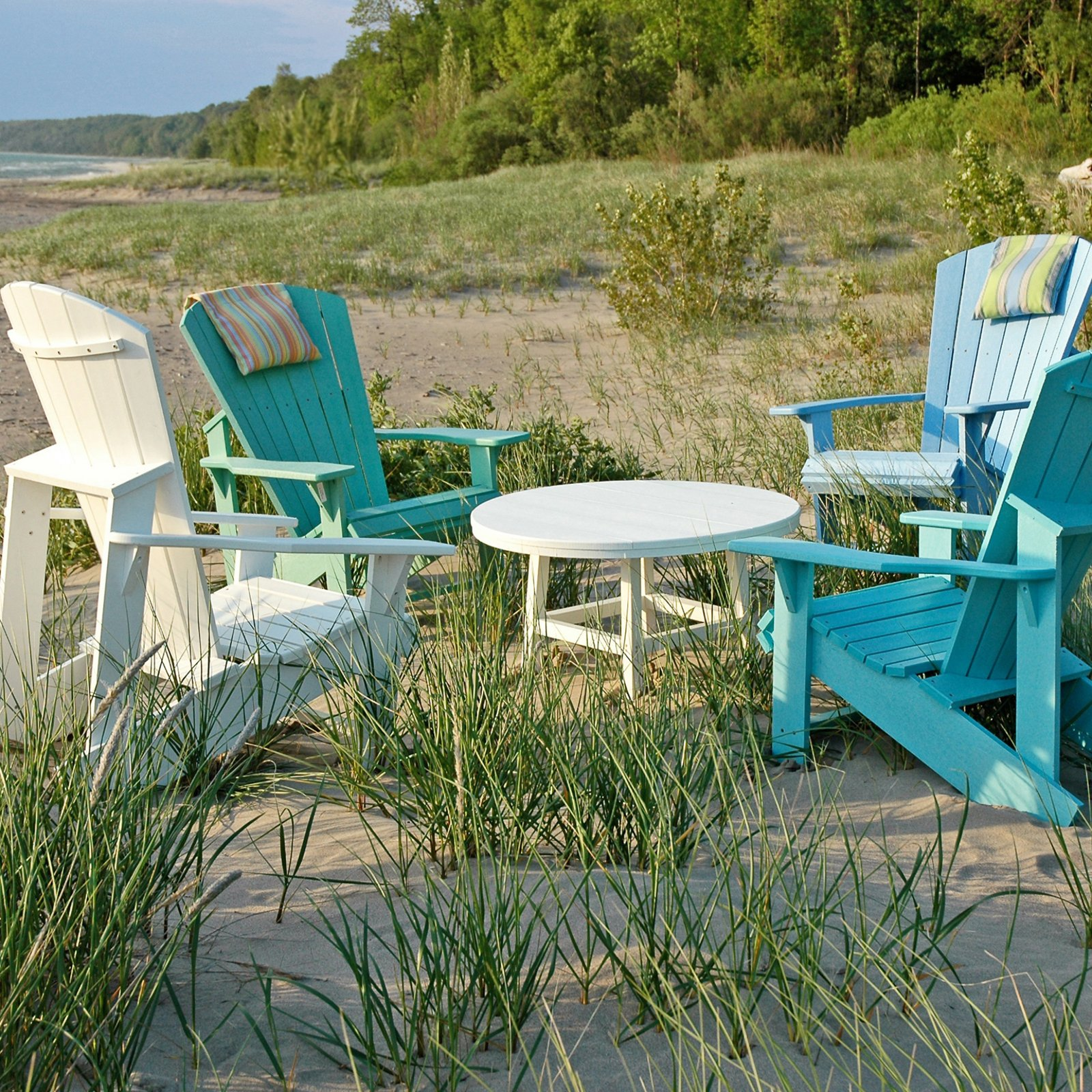 Beau CR Plastic Generations Upright Adirondack Chair   Walmart.com