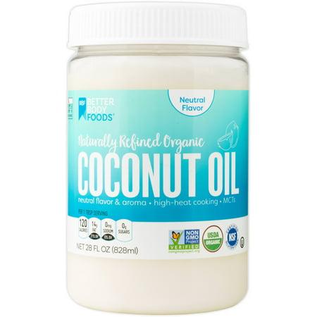 French Vanilla Flavor Oil - BetterBody Foods Naturally Refined Organic Coconut Oil Neutral Flavor, 28.0 Fl Oz