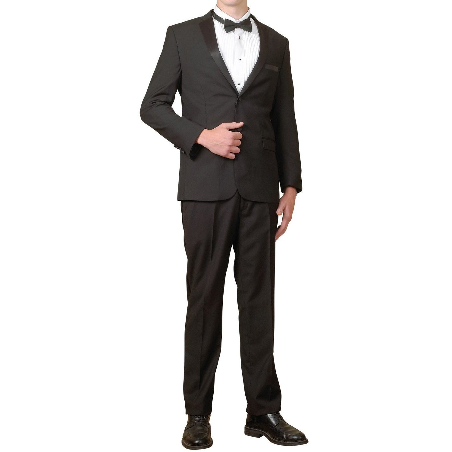 Men's Tuxedo Package | 5 Piece Complete Set | Suit Jacket...