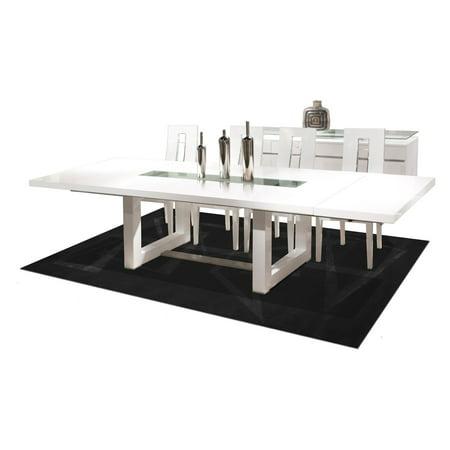 Novo Rectangular Extendable Dining Table White Lacquer