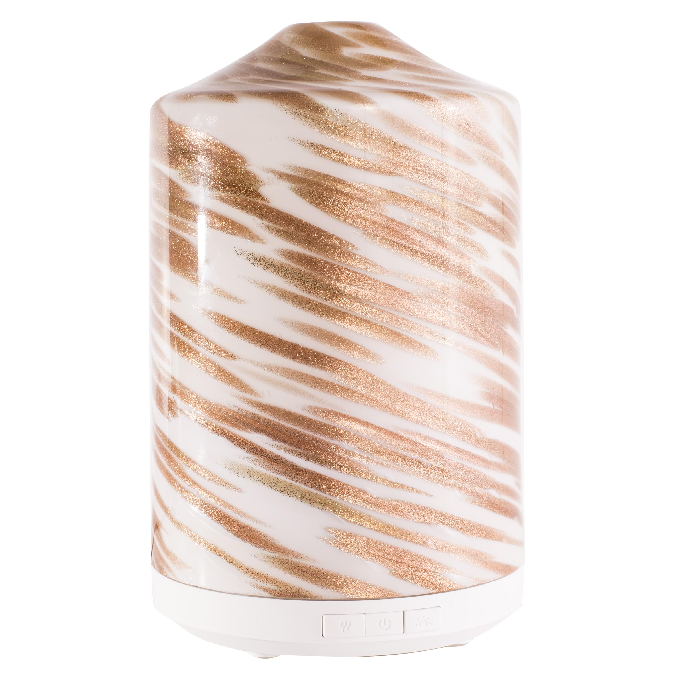 Better Homes & Gardens 250 mL Gold Swirl Cool Mist Ultrasonic Aroma Diffuser