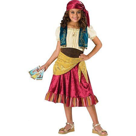 incharacter costumes big girls' gypsy dress set costume, multi color, - Gypsy Girl Costume