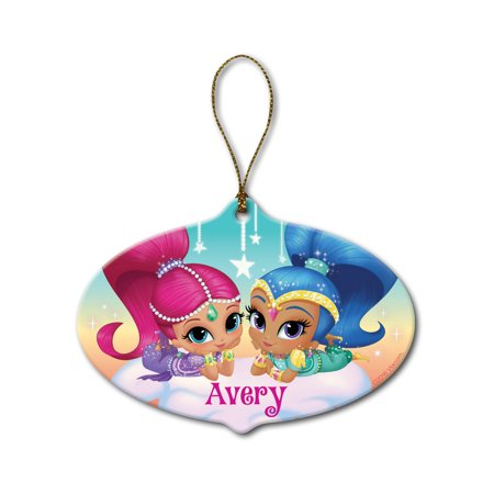 Personalized Shimmer and Shine Christmas Ornament - Make it Sparkle Ornament, Pink - Personalized It