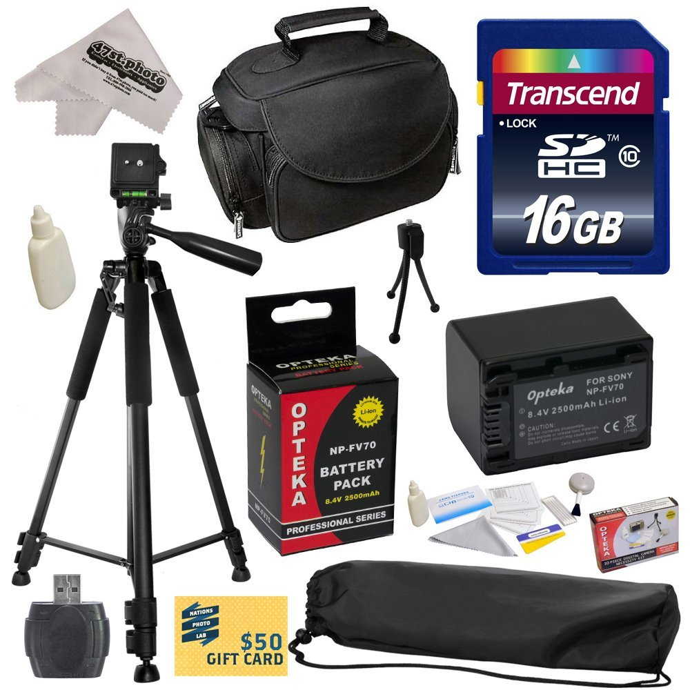 Opteka Best Value Accessory Kit for Sony CX110 CX130 CX15...