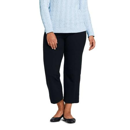 6cf6b8f599af Lands' End - Women's Plus Size Starfish Stretch Crop Pant - Walmart.com