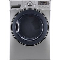 LG DLEX3570V 7.4-cu ft Stackable Electric Steam Dryer (Graphite steel)
