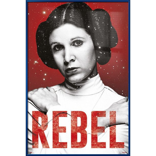 Star Wars Episode Iv A New Hope Framed Movie Poster Print Princess Leia Rebel Size 24 X 36 Walmart Com Walmart Com